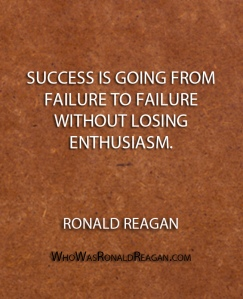 Success is going from failure to failure