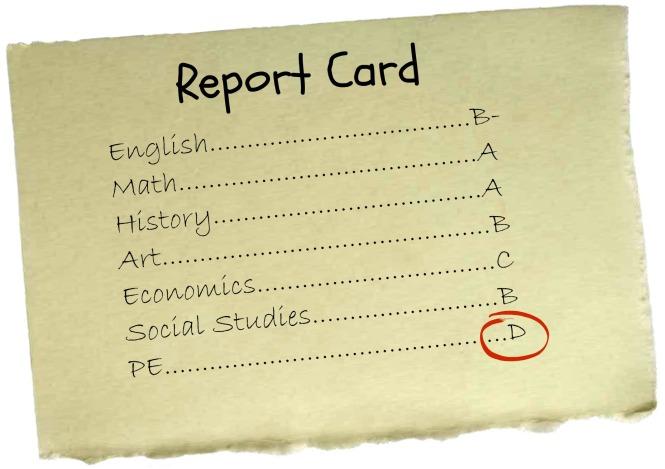 Mock report card