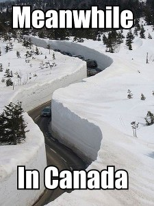 Snow day in Canada