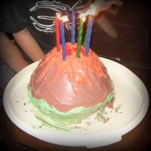 volcano birthday cake