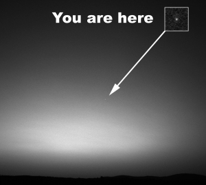 Earth as seen from Mars