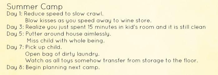 Summer Camp Agenda