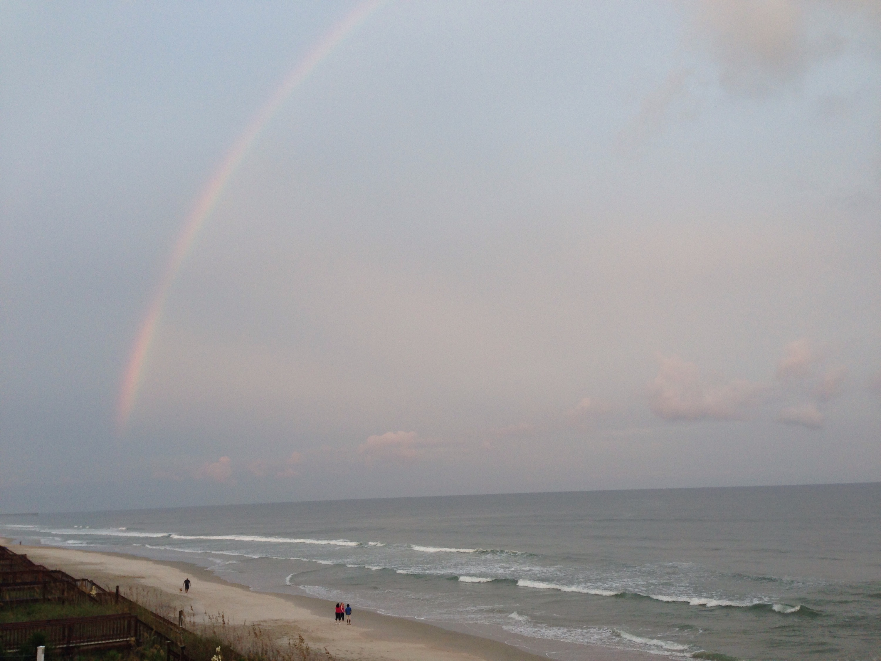 rainbow over topsail