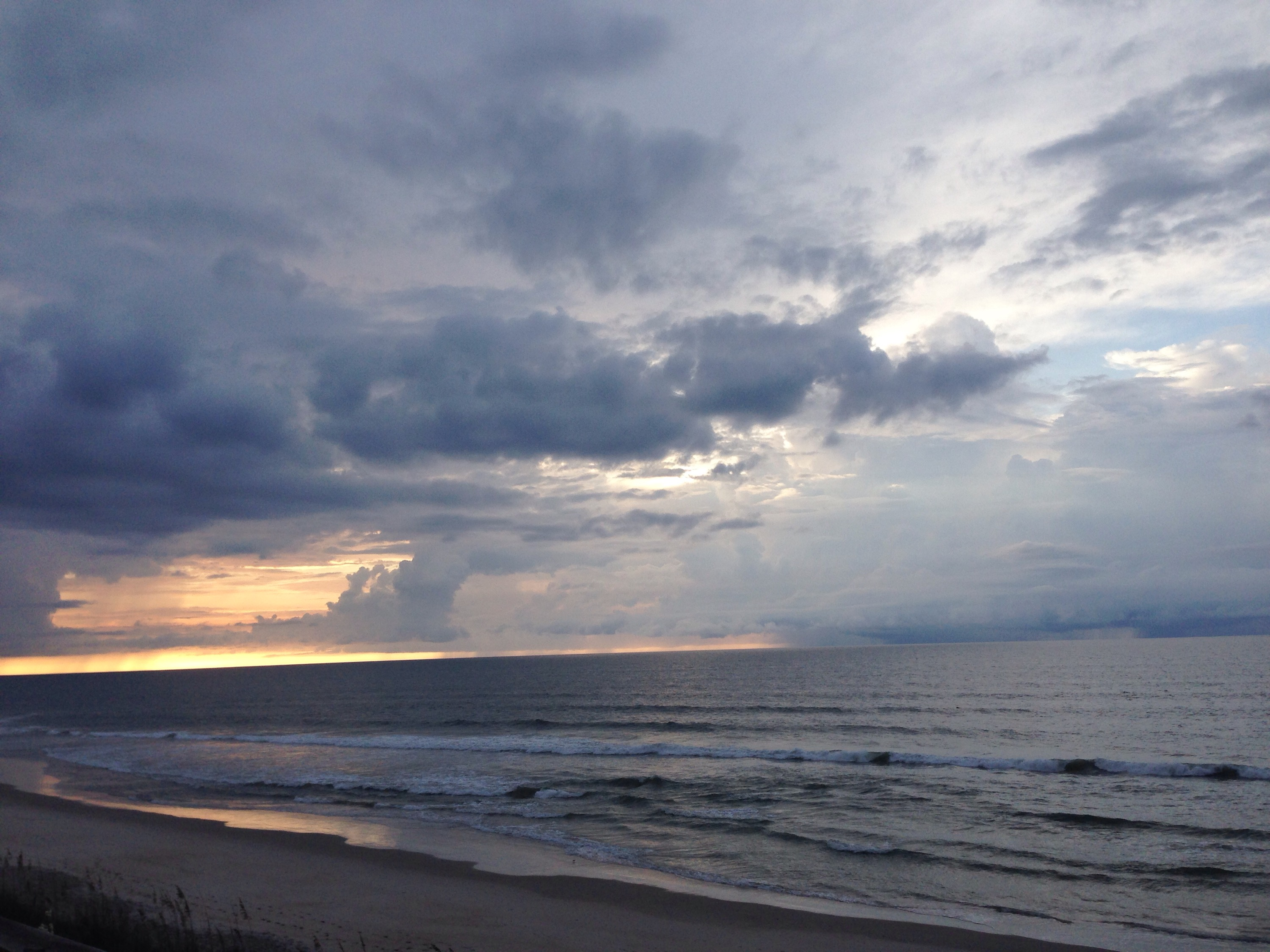 storm brewing off topsail island
