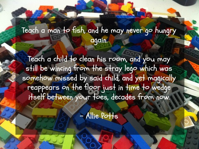 Cleaning after children quote