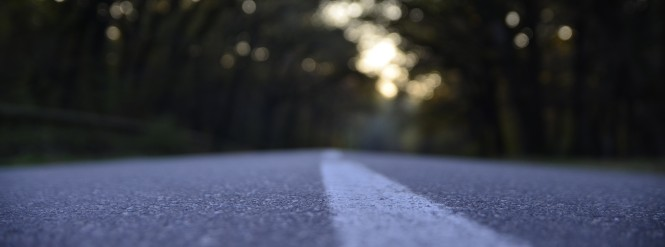 out of focus road