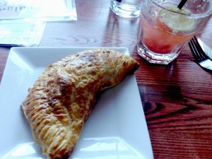 empanada with strawberry margarita
