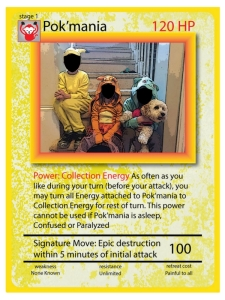 Trading card the Pokemon Exchange on www.alliepottswrites.com