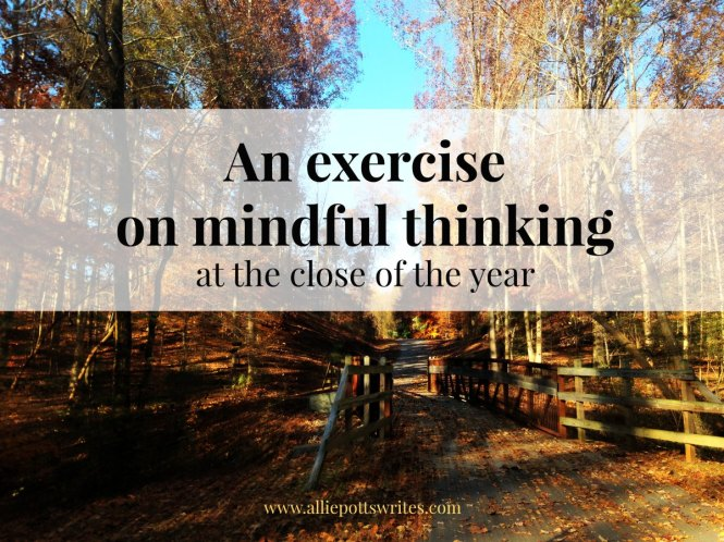An exercise on #mindfulness - www.alliepottswrites.com
