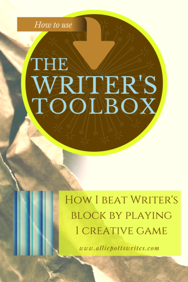 How I beat writer's block by playing one creative game. www.alliepottswrites.com #thewriterstoolbox #shortstory
