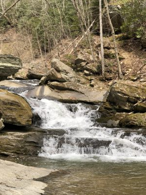Crab Orchard Falls NC - www.alliepottswrites.com #hiking #travel