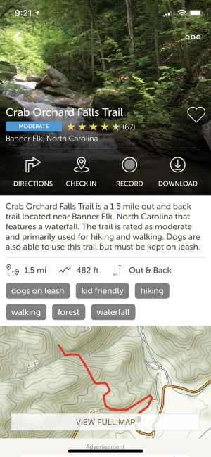 AllTrails Review - www.alliepottswrites.com #hiking #app