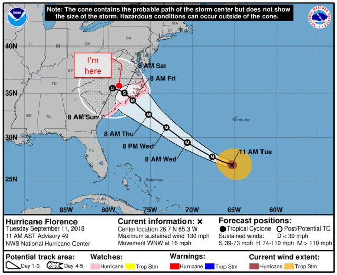 Hurricane Florence Storm Track