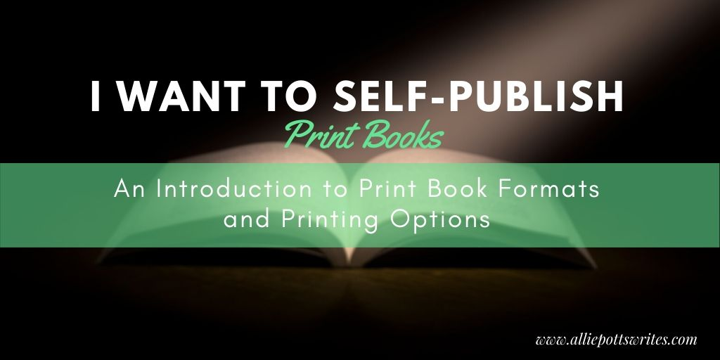 print book formats and printing options